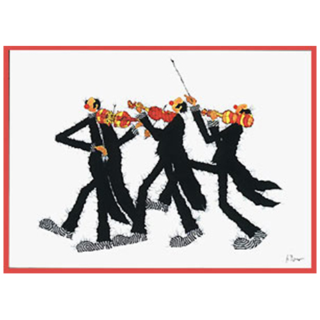 Postcard 3 Violinists
