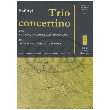 Werke für Jugendorchester - Szónyi: Trio concertino
