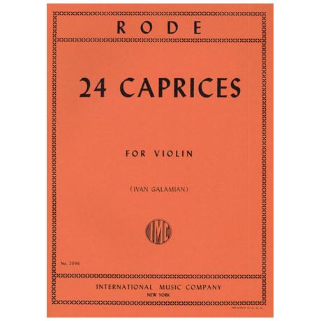 Rode, P.: 24 Capricen