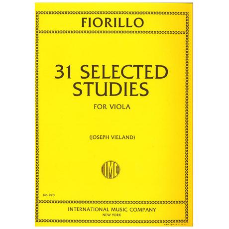 Fiorillo, F.: 31 ausgewählte Etüden