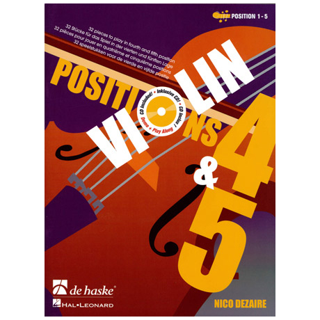 Dezaire, N.: Violin Positions 4-5 (+CD)