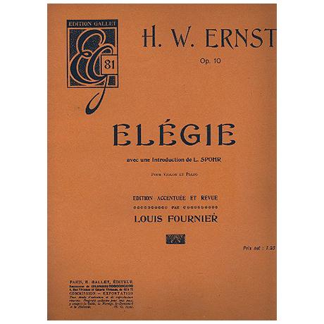 Ernst, H. W.: Elégie Op. 10