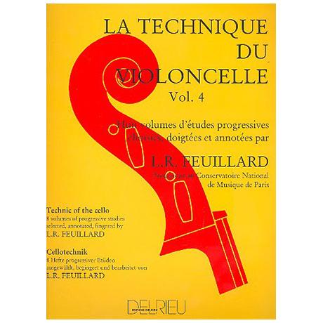 Feuillard, L.R.: La technique du violoncelliste Band 4