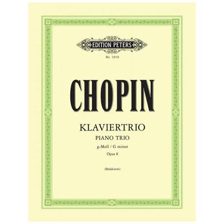 Chopin, F.: Klaviertrio Op. 8 g-Moll