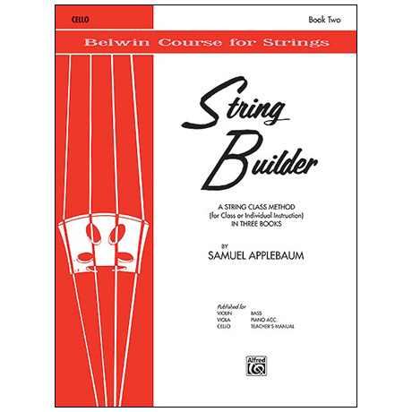 Applebaum, S.: String Builder Book Two – Cello