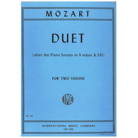 Mozart, W. A.: Duett in A-Dur KV 331