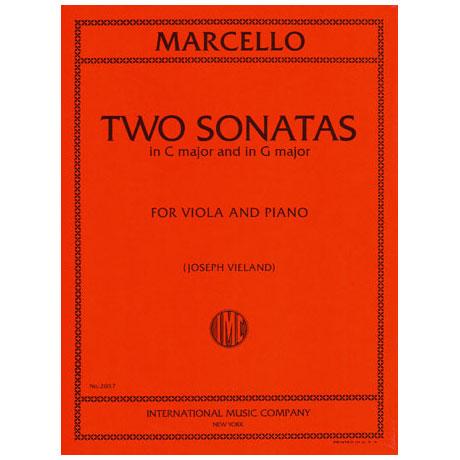 Marcello, B.: 2 Violasonaten G-Dur und C-Dur