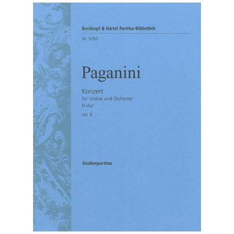 Paganini, N.: Violinkonzert Nr. 1 Op. 6 D-Dur