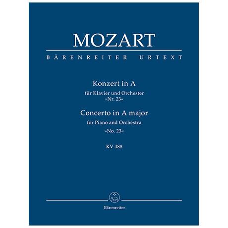 Mozart, W. A.: Konzert für Klavier und Orchester Nr. 23 A-Dur KV 488