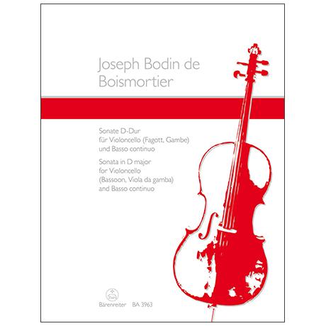 Boismortier, J. B. d.: Violoncellosonate Op. 50/3 D-Dur
