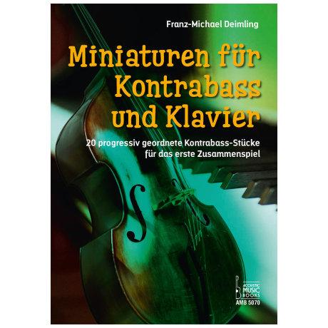 Deimling, F.-M.: Miniaturen – 20 progressiv geordnete Kontrabass-Stücke für das erste Zusammenspiel