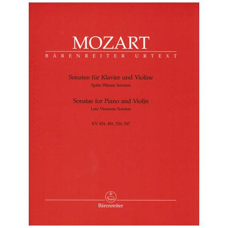 Mozart, W. A.: Späte Wiener Violinsonaten KV 454/KV 481/KV 526 & 547