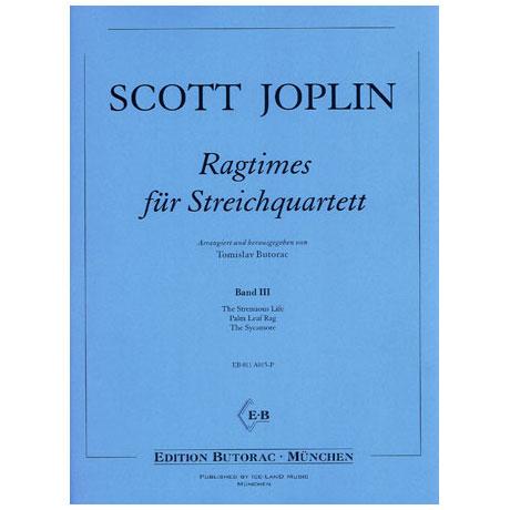 Joplin, S.: Ragtimes für Streichquartett Band 3