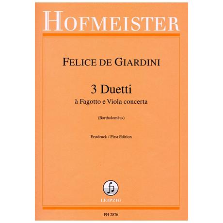 Giardini, F. d.: 3 Duetti à Fagotto e Viola concerta