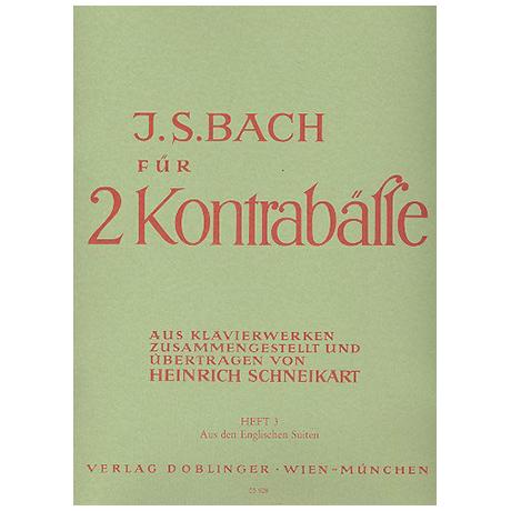 Bach, J. S.: Übungsmusik für 2 Kontrabässe Band 3 – Aus den Englischen Suiten
