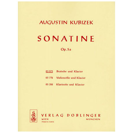 Kubizek, A.: Violasonatine Op. 5a