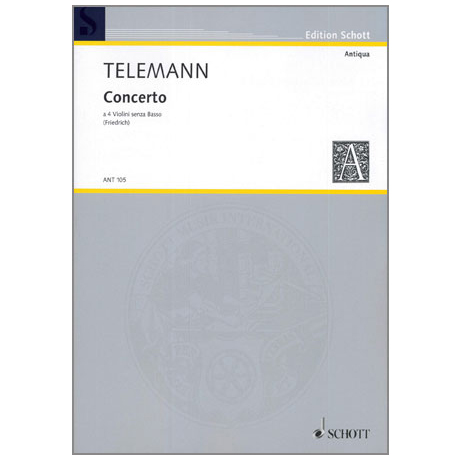 Telemann, G. Ph.: Concerto a quattro A-Dur TWV 40:204