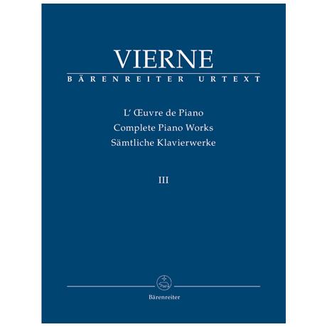 Vierne, L.: Bd. 3 Die letzten Werke (1916-1922)