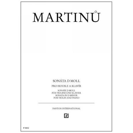 Martinů, B.: Violinsonate d-Moll