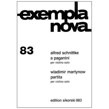Schnittke, A.: A Paganini / Martynow, W.: Partita