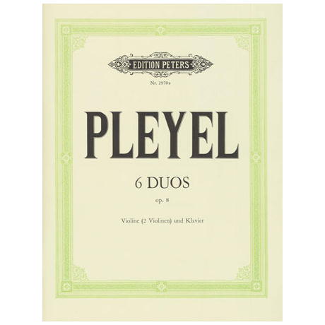 Pleyel, I. J.: 6 Duos Op. 8