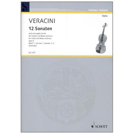 Veracini, F. M.: 12 Violinsonaten nach Corellis Op. 5 Band 1