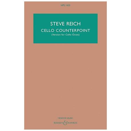 Reich, S.: Cello Counterpoint – Partitur