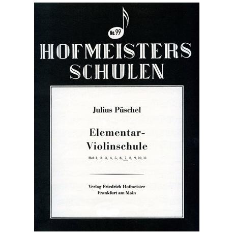 Püschel, J.: Elemetar-Violinschule, Heft 7