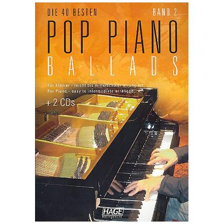 Die 40 besten Pop Piano Ballads Band 2 (+2CDs)