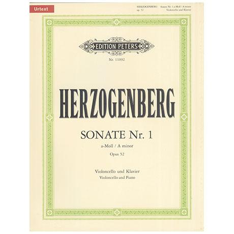 Herzogenberg, H.v.: Sonate Nr.1 Op.52 a-Moll