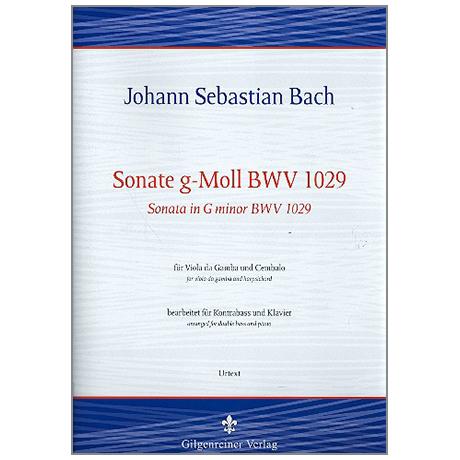 Bach, J. S.: Kontrabasssonate g-Moll nach BWV1029