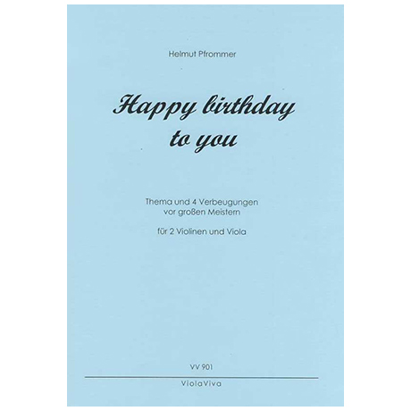 Pfrommer, H.: Trio »Happy birthday to you«