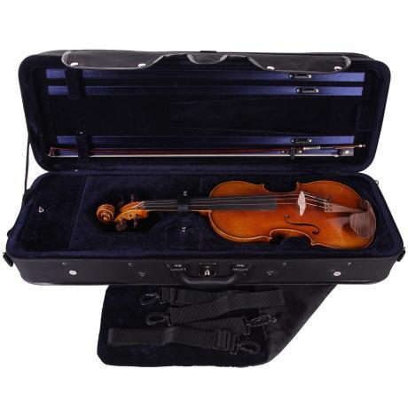 PACATO Livorno violin case 4/4 | black/blue