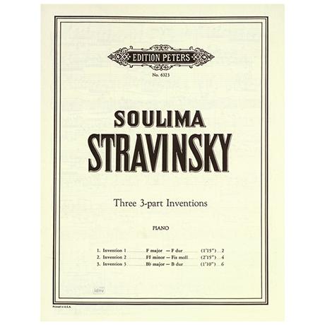 Stravinsky, S.: 3 Inventionen