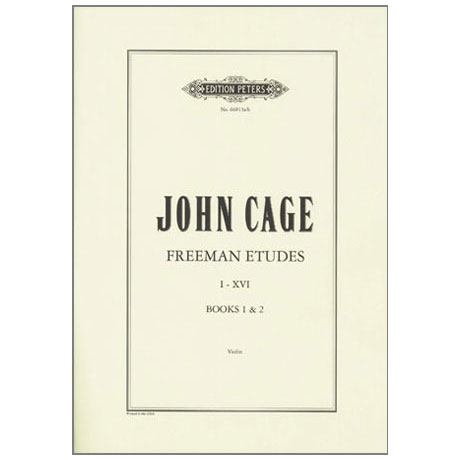 Cage, J.: Freeman Etudes Books 1 & 2 (Nr.1-16)