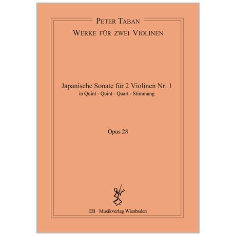 Taban, P.: Japanische Duo-Sonate Nr. 1 Op. 28