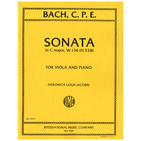 Bach, C. Ph. E.: Violasonate in C-Dur W.136