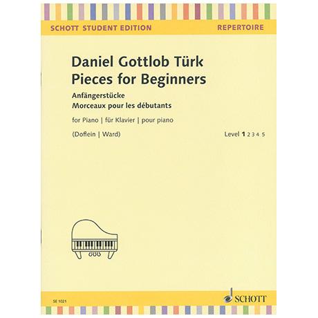 Türk, D.G.: Pieces for Beginners / Anfängerstücke / Morceaux pour les débutants