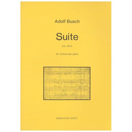 Busch, A.: Suite Op. 8a (ca. 1914)