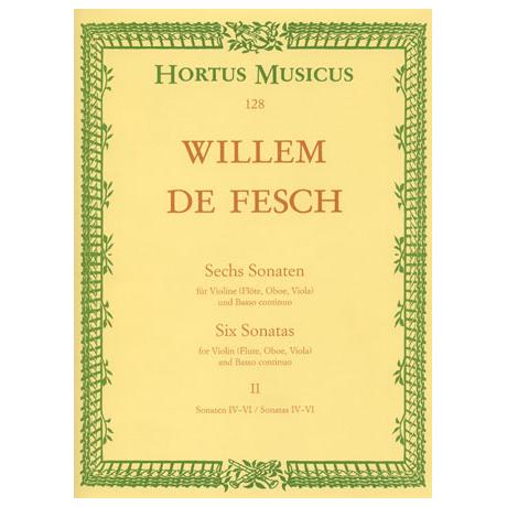 Fesch, W. d.: 6 Violinsonaten - Band 2