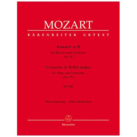 Mozart, W. A.: Klavierkonzert Nr. 27 KV 595 B-Dur
