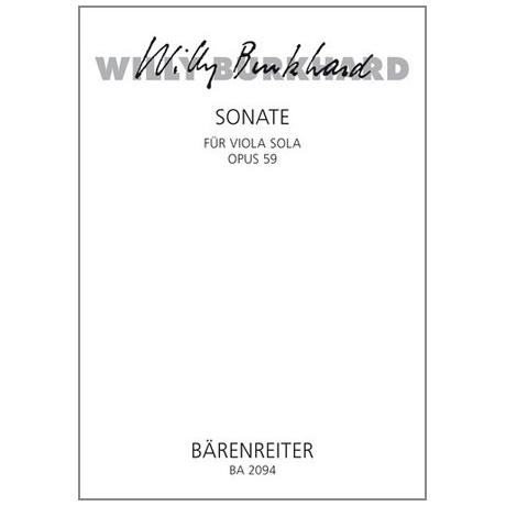 Burkhard, W.: Violasonate Op. 59 (1939)