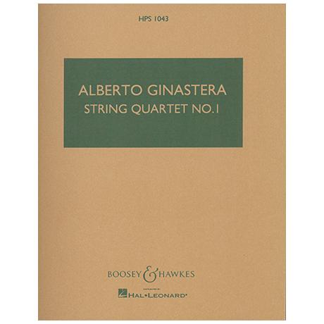 Ginastera, A.: Streichquartett Nr. 1 Op. 20 – Partitur