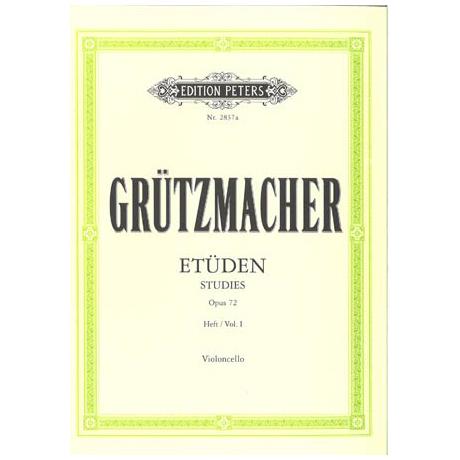 Grützmacher, F.W.: 12 Etüden für Anfänger mit Vc II ad lib. Op. 72 Bd. 1