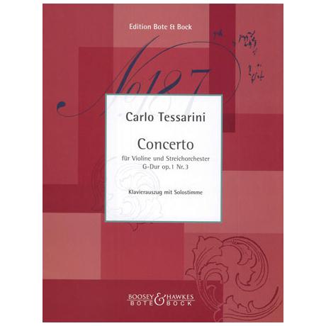 Tessarini, C.: Violinkonzert Nr. 3 Op. 1 G-Dur