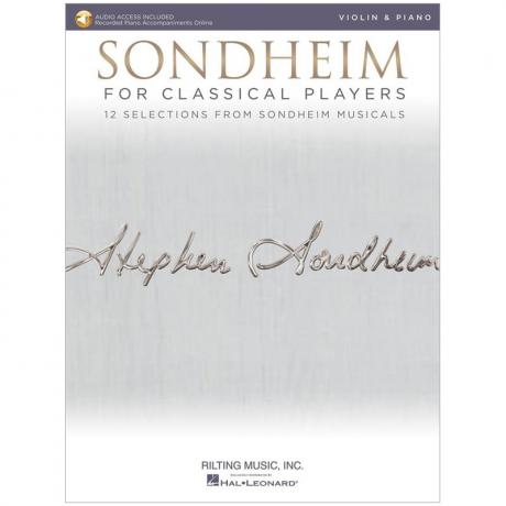 Sondheim for Classical Violin Players (+Online Audio)