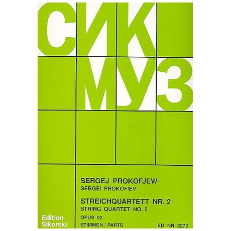 Prokofieff, S.: Streichquartett Nr. 2, op. 92 auf kabardinische Themen