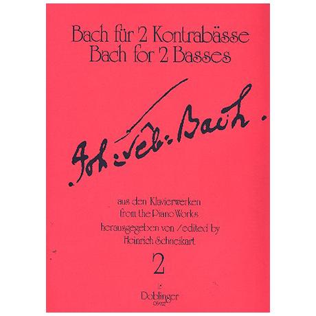 Bach für 2 Kontrabässe Band 2