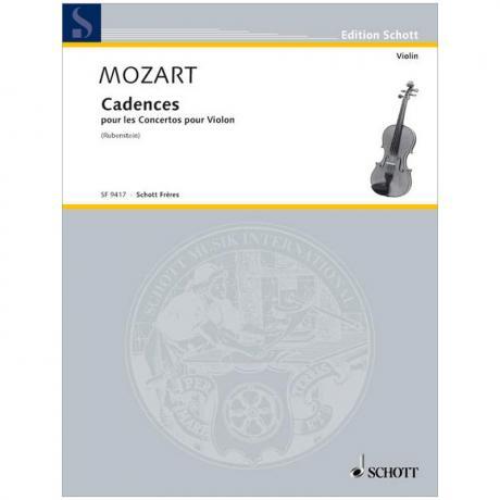 Mozart, W. A./Rubenstein, J.: Violinkonzerte – Kadenzen