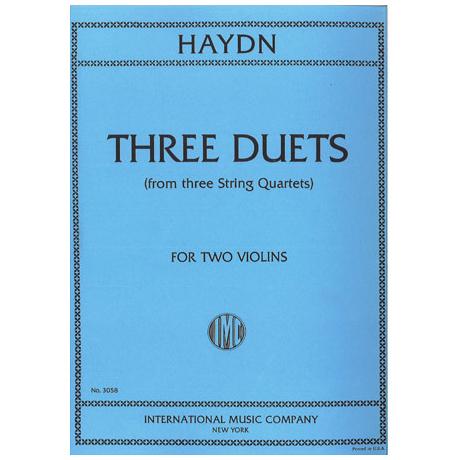 Haydn, J.: 3 Duette Hob. III: 40, 20, 23a